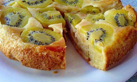 Tarta de kiwi con galletas