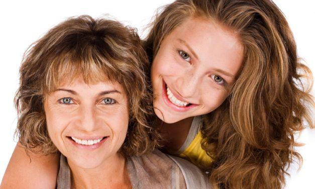 Madres jóvenes con hijas