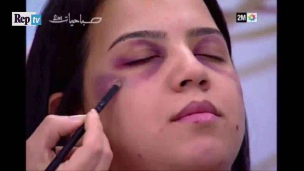 La televisión de Marruecos da consejos para maquillarse a las victimas de violencia