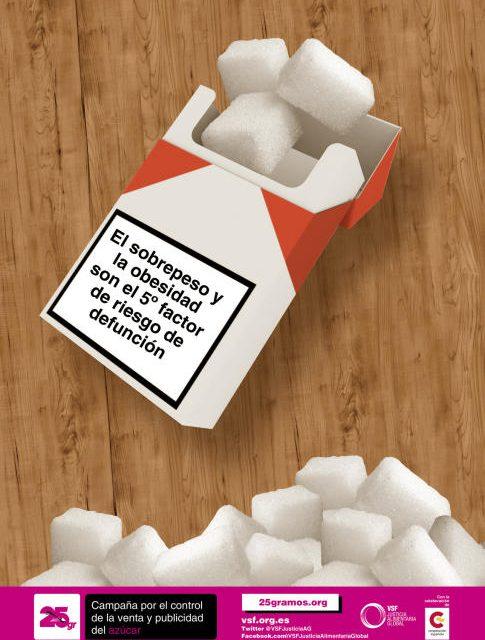 25 gramos, una campaña que denuncia lo que esconde el azúcar
